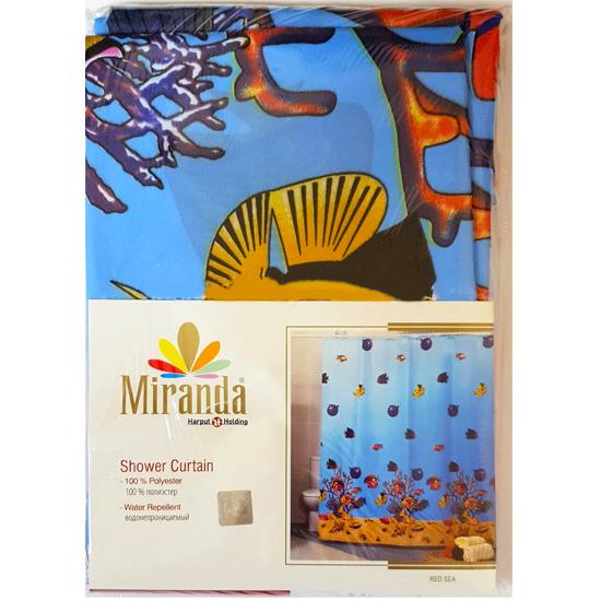Штора для ванной Miranda Red Sea 11061 голубой 180х200 см, Туреччина
