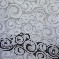 Штора для ванной Miranda Motives 2161 серый 180х200 см, Турция