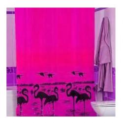 Штора для ванной Miranda Flamingo 4101 розовый 180х200 см, Турция