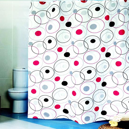 Штора для ванной Miranda Wheels L-4373 белый 180х200 см, Турция
