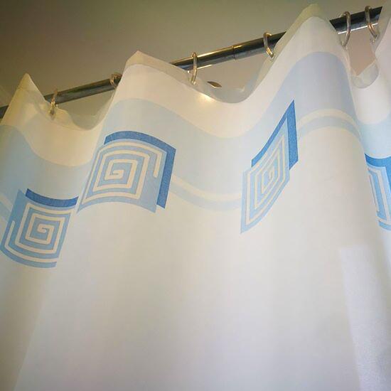 Штора для ванной Miranda Lykia 5087 голубой 180х200 см, Турция