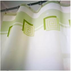 Штора для ванной Miranda Lykia 5087 зеленый 180х200 см, Турция