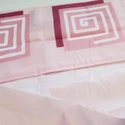 Штора для ванной Miranda Lykia 5087 розовый 180х200 см, Турция