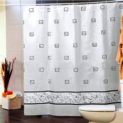 Штора для ванной Miranda Emerald 6025 белый 180х200 см, Турция