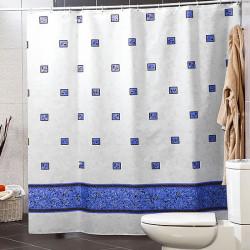 Штора для ванной Miranda Emerald 6025 голубой 180х200 см, Турция