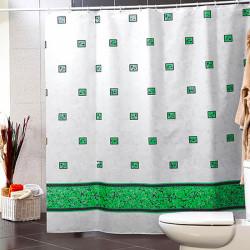 Штора для ванной Miranda Emerald 6025 зеленый 180х200 см, Турция