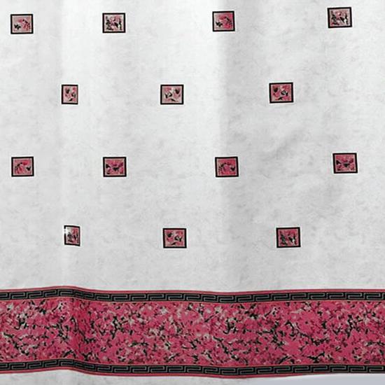 Штора для ванной Miranda Emerald 6025 розовый 180х200 см, Турция