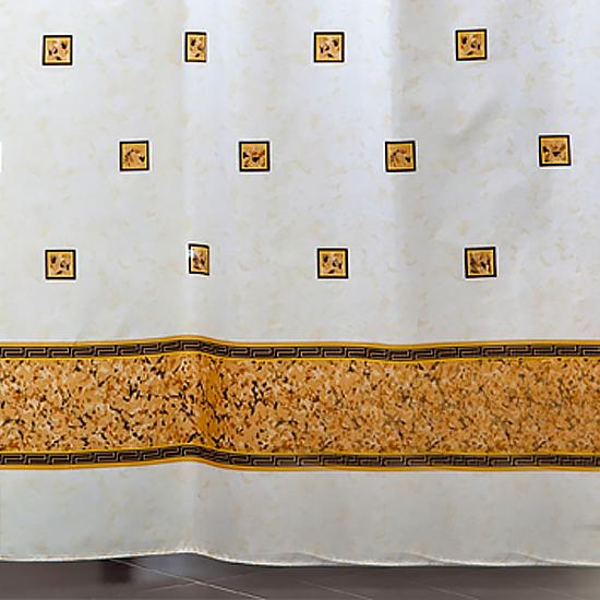 Штора для ванной Miranda Emerald 6025 бежевый 180х200 см, Турция