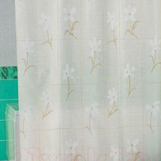Штора для ванной Miranda Country Flower 6040 голубой 180х200 см, Турция