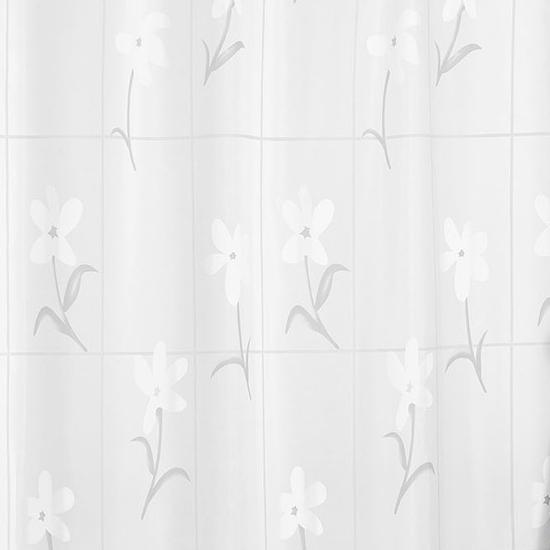 Штора для ванной Miranda Country Flower 6040 белый 180х200 см, Турция