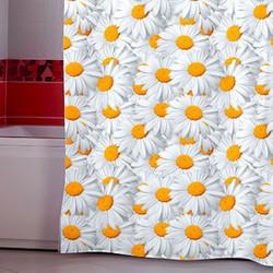 Штора для ванной Miranda Camomile 6236 серый 180х200 см, Турция