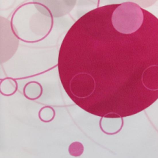 Штора для ванной Miranda Circle 7063 розовый 180х200 см, Турция