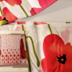 Штора для ванной Miranda Poppy 7073 красный 180х200 см, Туреччина