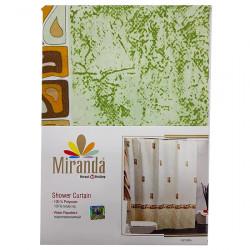 Штора для ванной Miranda Asturia 7079 зеленый 180х200 см, Турция