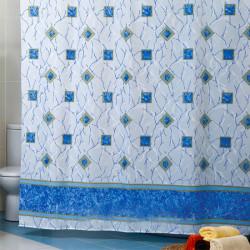Штора для ванной Miranda Miranda Plaid 7083 голубой 180х200 см, Турция