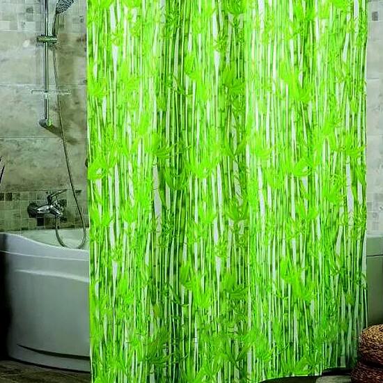 Штора для ванной Miranda Bamboos 7091 зеленый 180х200 см, Турция