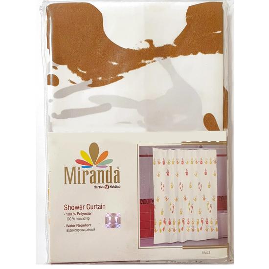 Штора для ванной Miranda Mermer Su 7103 бежевый 180х200 см, Турция