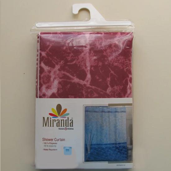Штора для ванной Miranda Mermer Su 7103 розовый 180х200 см, Турция