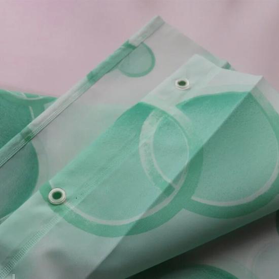 Штора для ванной Miranda Side G-7801 зеленый 180х200 см, Турция