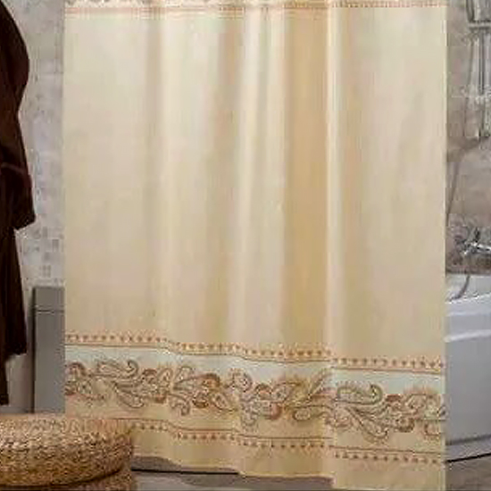 Штора для ванной Miranda Leopard 8024 бежевый 180х200 см, Турция