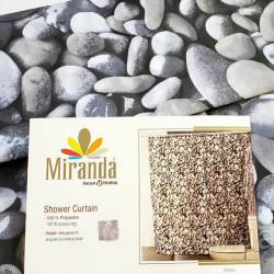 Штора для ванной Miranda Rocks G - 8065 серый 180х200 см, Туреччина