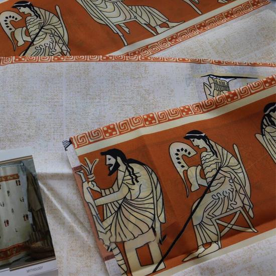 Штора для ванной Miranda Mythology 8091 бежевый 180х200 см, Турция
