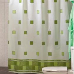 Штора для ванной Miranda Postaki 8094 зеленый 180х200 см, Турция