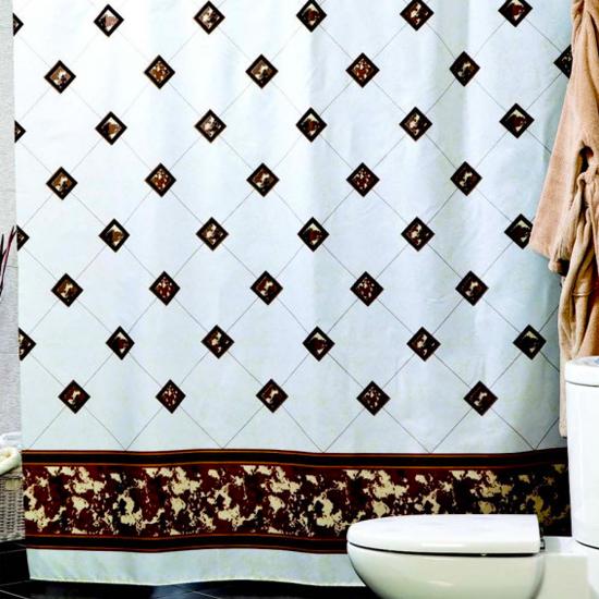 Штора для ванной Miranda Bezeme 9088 бежевый 180х200 см, Турция
