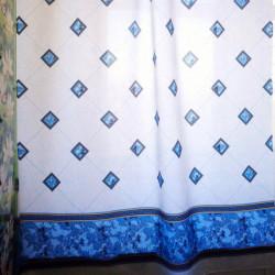 Штора для ванной Miranda Bezeme 9088 голубой 180х200 см, Турция