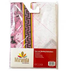 Штора для ванной Miranda Bezeme 9088 розовый 180х200 см, Турция