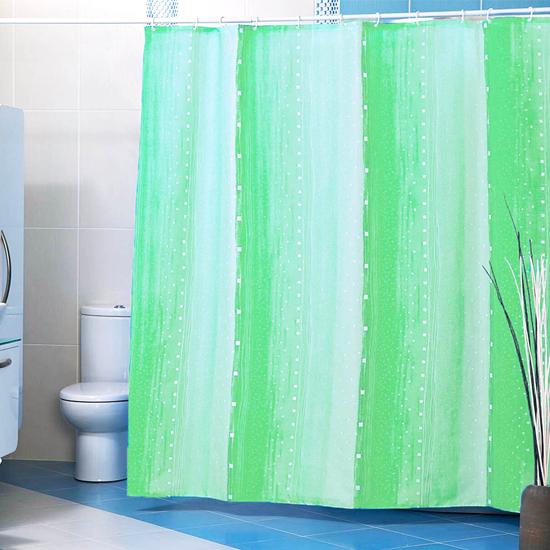 Штора для ванной Miranda Rain 9110 зеленый 180х200 см, Туреччина