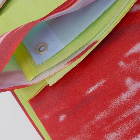 Штора для ванной Miranda Lale 9113 красный 180х200 см, Турция