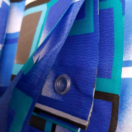 Штора для ванной Miranda Kare 9123 голубой 180х200 см, Турция