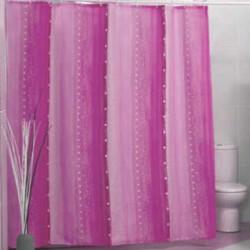 Штора для ванной Miranda Rain 9110 розовый 180х200 см, Туреччина