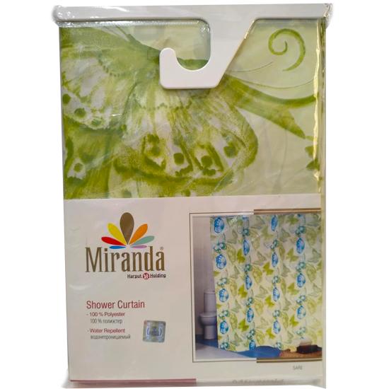 Штора для ванной Miranda Sare L-9229 зеленый 180х200 см, Турция