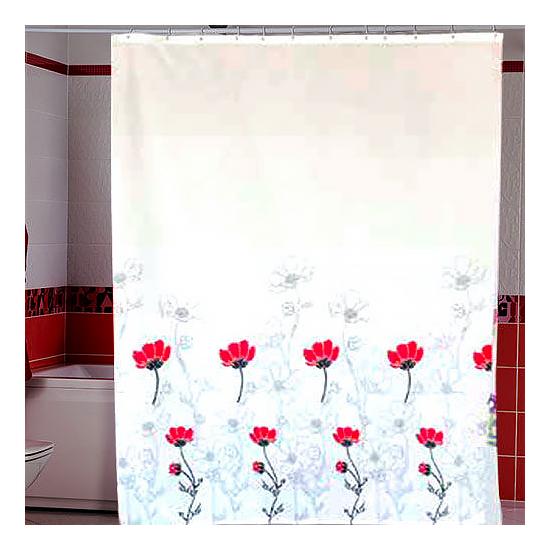 Штора для ванной Miranda Bodrum G-2862 белый 180х200 см, Турция