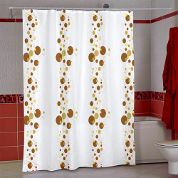 Штора для ванной Miranda Bubble 5160 бежевый 180х200 см, Турция