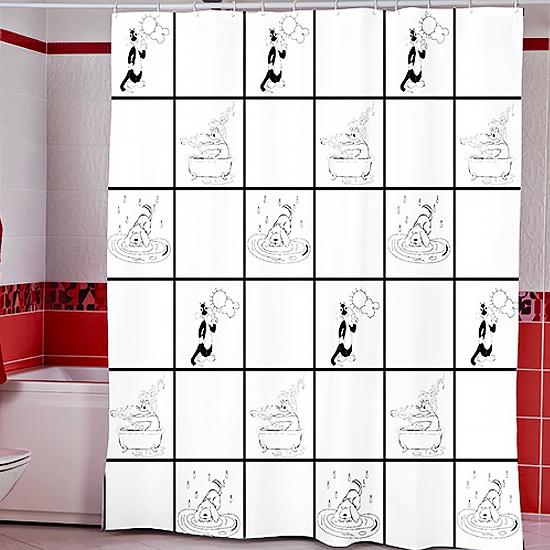 Штора для ванной Miranda Dolce Vita 1305 белый 180х200 см, Турция