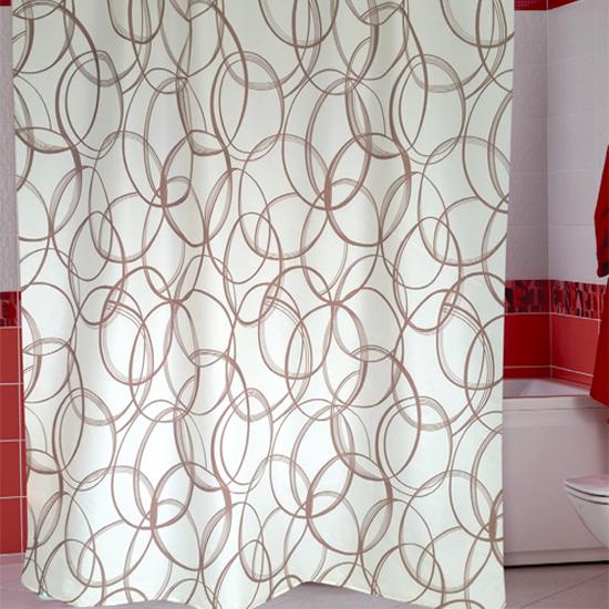Штора для ванной Miranda Amalia G-2797 бежевий 180х200 см, Турция