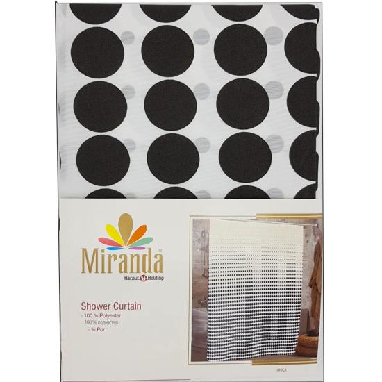 Штора для ванной Miranda Anka G-2860 белый 180х200 см, Турция
