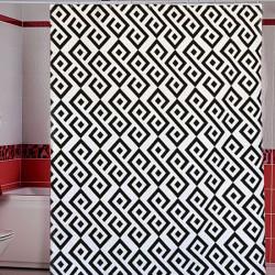 Штора для ванной Miranda Antep G-2867 белый 180х200 см, Турция