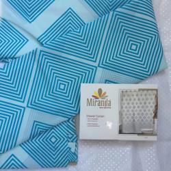 Штора для ванной Miranda Ibiza G-2868 голубой 180х200 см, Турция
