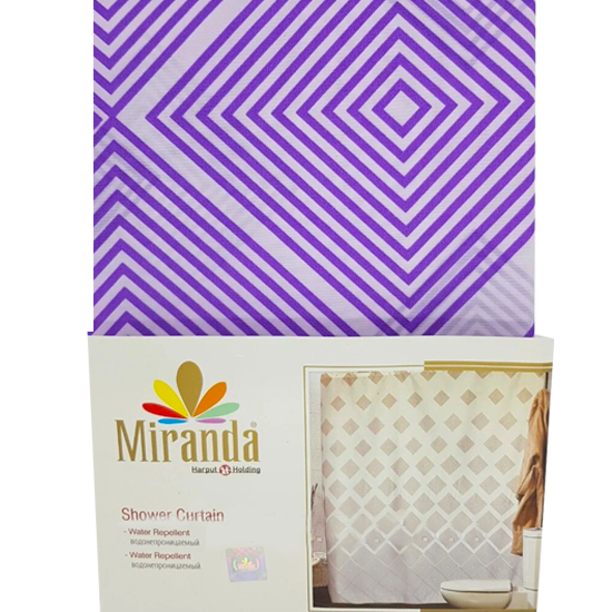 Штора для ванной Miranda Ibiza G-2868 бежевый 180х200 см, Турция