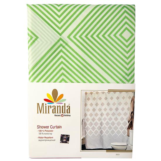 Штора для ванной Miranda Ibiza G-2868 зеленый 180х200 см, Турция