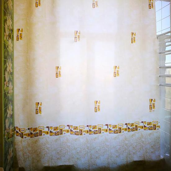 Штора для ванной Miranda Asturia 7079 бежевый 180х200 см, Турция