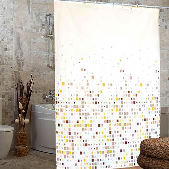 Штора для ванной Miranda Efes G-7792 бежевый 180х200 см, Турция