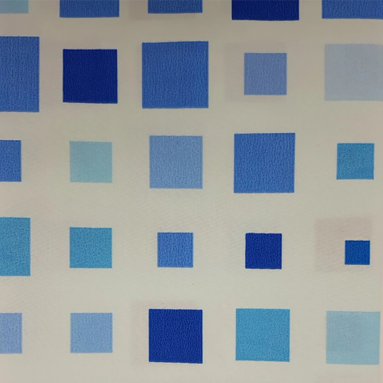 Штора для ванной Miranda Efes G-7792 голубой 180х200 см, Турция