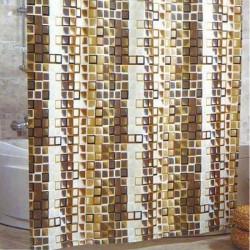 Штора для ванной Miranda Kare 9123 бежевый 180х200 см, Турция