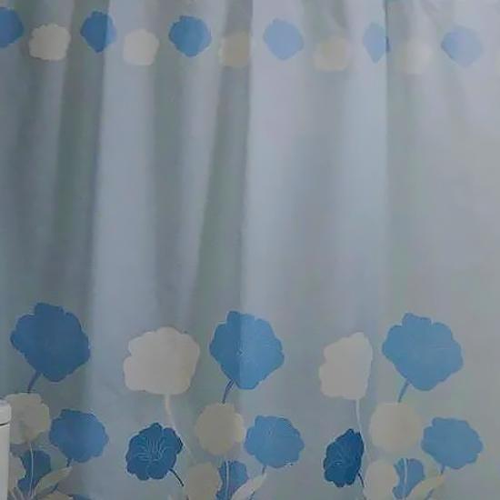 Штора для ванной Miranda Herbarium L-4130 голубой 180х200 см, Турция