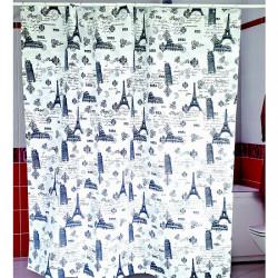 Штора для ванной Miranda Ancient L-4367 серый 180х200 см, Турция